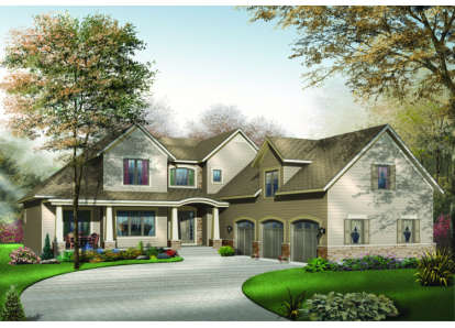 4 Bed, 3 Bath, 3136 Square Foot House Plan - #034-00024