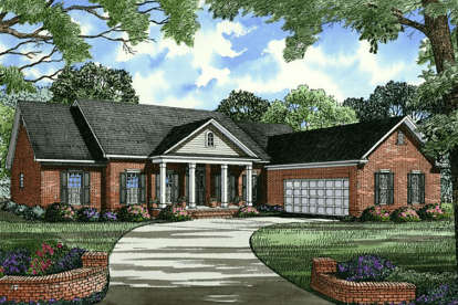 4 Bed, 2 Bath, 2502 Square Foot House Plan - #110-00029