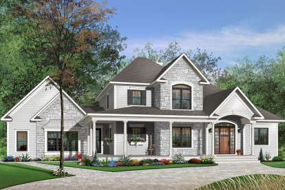 3 Bed, 2 Bath, 2549 Square Foot House Plan - #034-00025