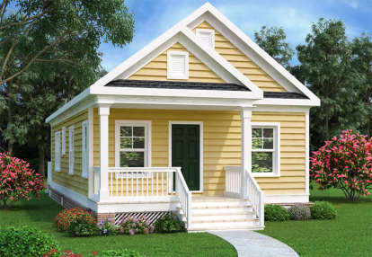 2 Bed, 1 Bath, 966 Square Foot House Plan - #009-00122