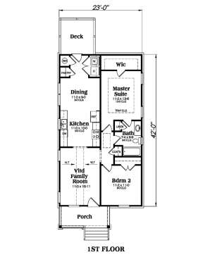 Main Floor for House Plan #009-00122