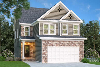 4 Bed, 2 Bath, 2095 Square Foot House Plan - #009-00125