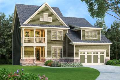 4 Bed, 3 Bath, 2372 Square Foot House Plan - #009-00130