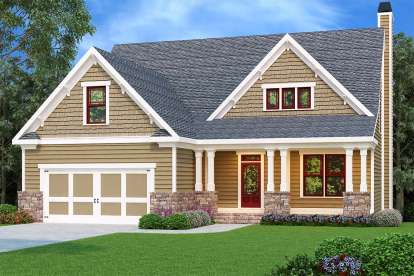 4 Bed, 2 Bath, 2133 Square Foot House Plan - #009-00133