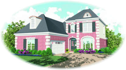3 Bed, 2 Bath, 2478 Square Foot House Plan - #053-00432