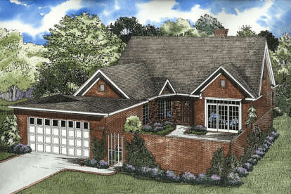 4 Bed, 3 Bath, 2469 Square Foot House Plan - #110-00033
