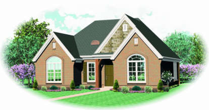 2 Bed, 2 Bath, 1583 Square Foot House Plan - #053-00442