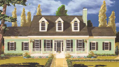 4 Bed, 2 Bath, 2451 Square Foot House Plan - #033-00066