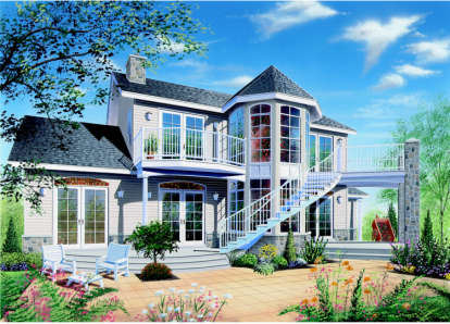 3 Bed, 2 Bath, 1953 Square Foot House Plan - #034-00029