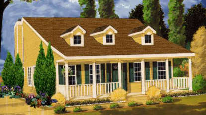 3 Bed, 2 Bath, 1226 Square Foot House Plan - #033-00067