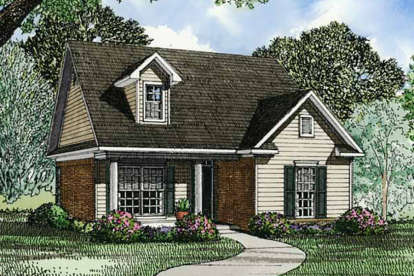 2 Bed, 1 Bath, 985 Square Foot House Plan - #110-00039