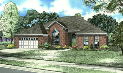 4 Bed, 2 Bath, 2319 Square Foot House Plan - #110-00049