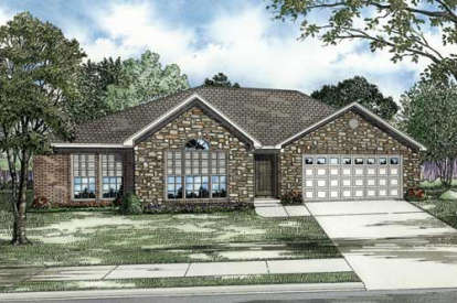 3 Bed, 2 Bath, 1680 Square Foot House Plan - #110-00055