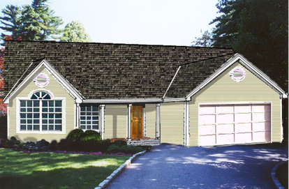3 Bed, 2 Bath, 1470 Square Foot House Plan - #033-00069