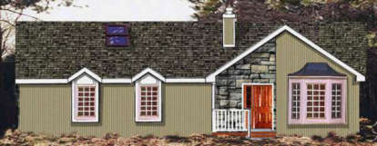 3 Bed, 2 Bath, 1677 Square Foot House Plan - #033-00070
