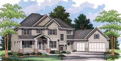 3 Bed, 2 Bath, 3071 Square Foot House Plan - #098-00049