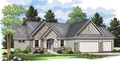 4 Bed, 3 Bath, 3141 Square Foot House Plan - #098-00051