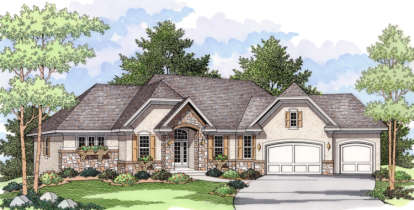 4 Bed, 3 Bath, 3458 Square Foot House Plan - #098-00054