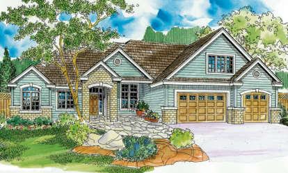 4 Bed, 4 Bath, 3369 Square Foot House Plan - #035-00393