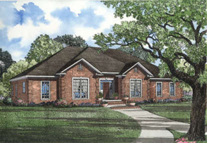 4 Bed, 2 Bath, 2444 Square Foot House Plan - #110-00066