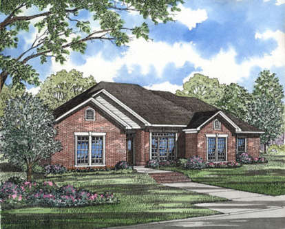 4 Bed, 2 Bath, 2034 Square Foot House Plan - #110-00068