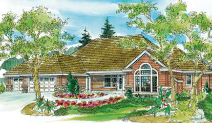 3 Bed, 3 Bath, 2944 Square Foot House Plan - #035-00396