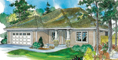 3 Bed, 2 Bath, 1765 Square Foot House Plan - #035-00397