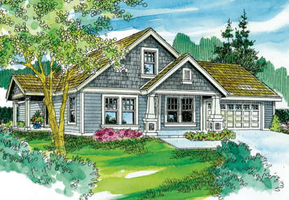 3 Bed, 2 Bath, 1436 Square Foot House Plan - #035-00398