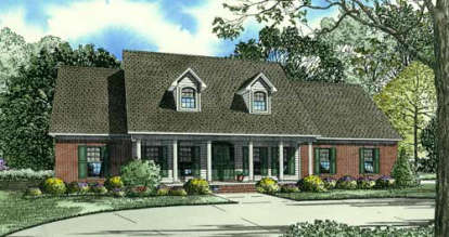 4 Bed, 3 Bath, 2493 Square Foot House Plan - #110-00078
