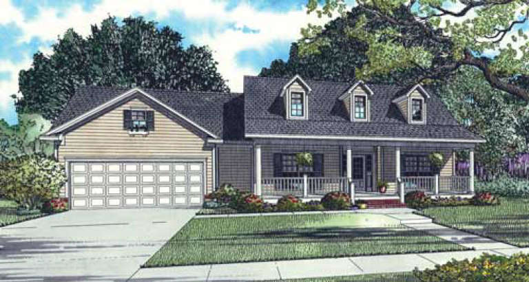 Country House Plan #110-00081 Elevation Photo