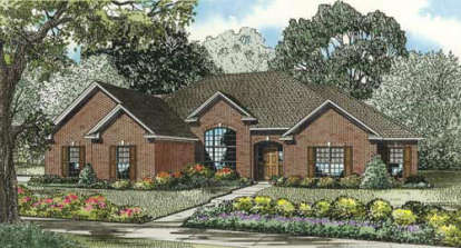 4 Bed, 2 Bath, 2280 Square Foot House Plan - #110-00082
