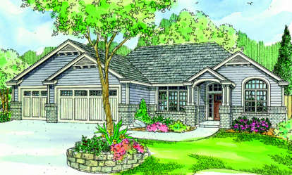 3 Bed, 2 Bath, 2489 Square Foot House Plan - #035-00400