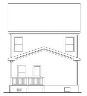 Cottage House Plan #009-00137 Elevation Photo