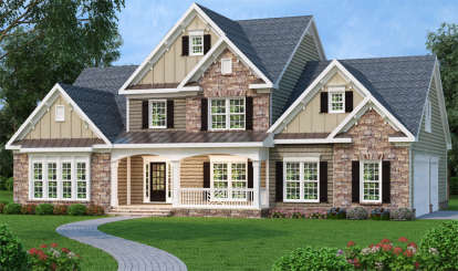 4 Bed, 2 Bath, 2965 Square Foot House Plan - #009-00013