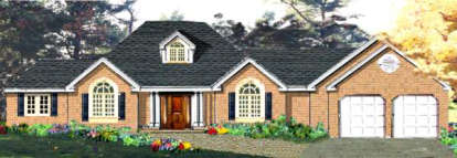 4 Bed, 2 Bath, 1850 Square Foot House Plan - #033-00073