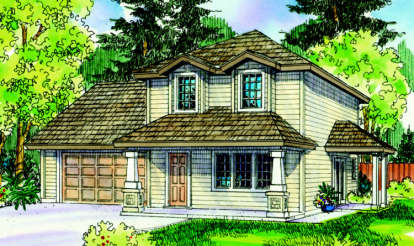 3 Bed, 2 Bath, 1598 Square Foot House Plan - #035-00402