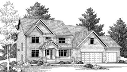 4 Bed, 2 Bath, 3931 Square Foot House Plan - #098-00057