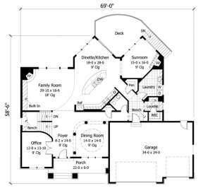 Main Floor for House Plan #098-00057