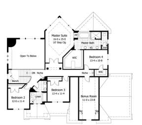 Second Floor for House Plan #098-00057