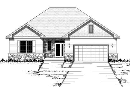 2 Bed, 1 Bath, 1388 Square Foot House Plan - #098-00064