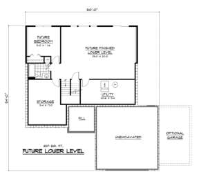 Basement for House Plan #098-00064