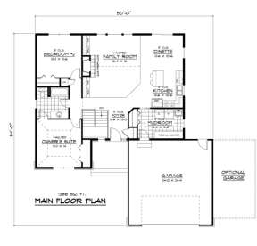 Main Floor for House Plan #098-00064
