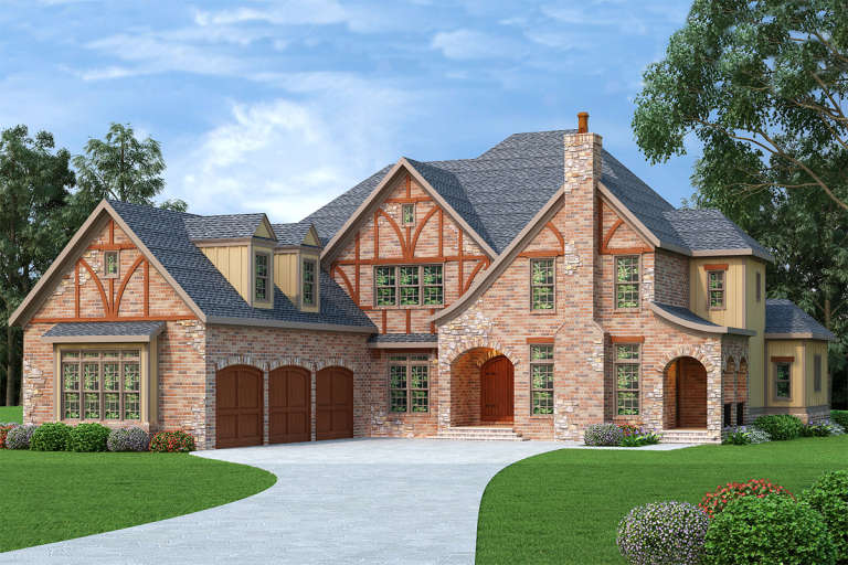 Tudor House Plan #009-00139 Elevation Photo