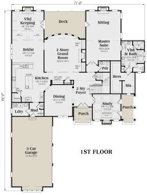 Main Floor for House Plan #009-00139