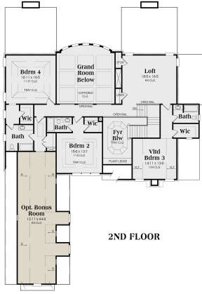 Second Floor for House Plan #009-00139