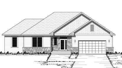 3 Bed, 2 Bath, 1620 Square Foot House Plan - #098-00069