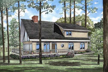 3 Bed, 2 Bath, 2143 Square Foot House Plan - #110-00083