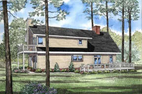 Lake Front House Plan #110-00083 Elevation Photo