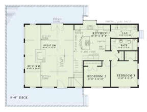Floorplan 1 for House Plan #110-00083