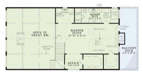 Floorplan 2 for House Plan #110-00083